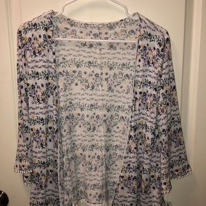 Old Navy Girls floral cardigan